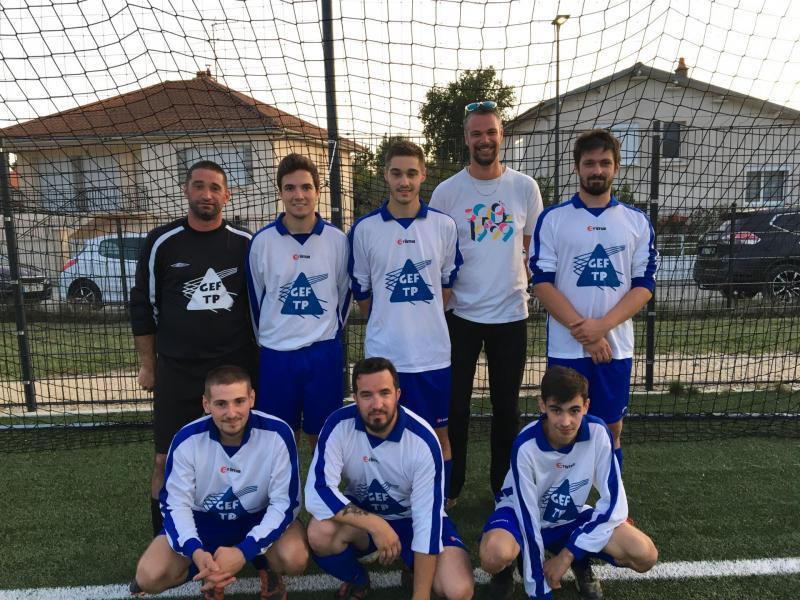 Equipe GEF TP tournoi foot inter entreprise 2019