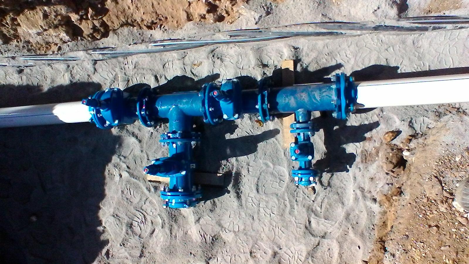 Vannes chantier eau